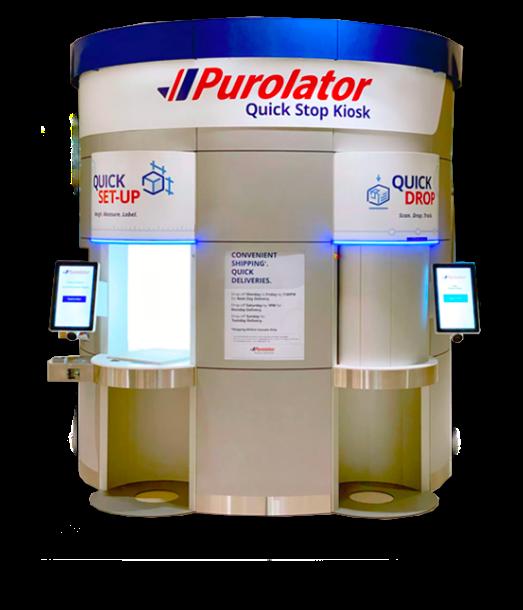 Purolator kiosk