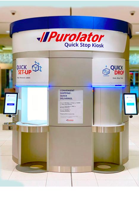 Purolator quick stop kiosk